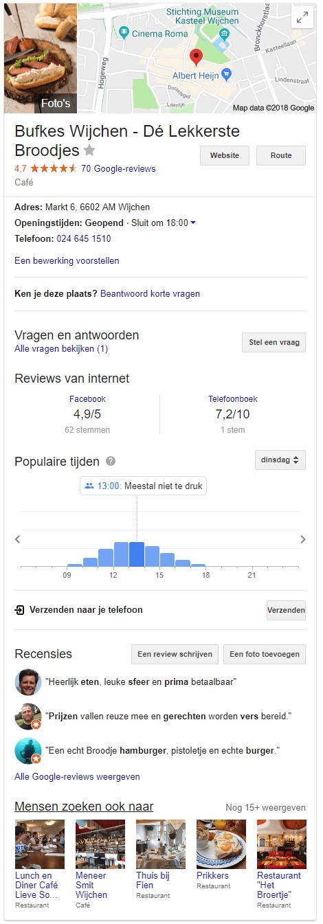 Google mijn bedrijf profiel