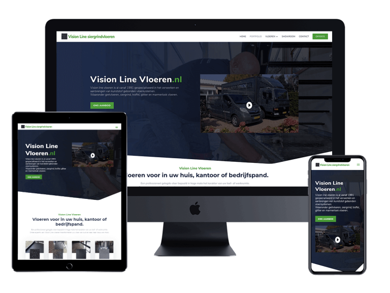 Visionline vloeren website project