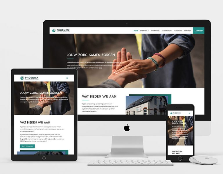 phoenixx care webdesign project