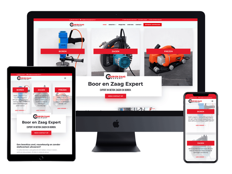Boor en zaag expert website project
